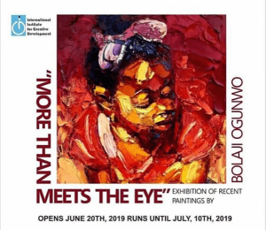 Nore than meets the eye solo exhibition Bolaji Ogunwo
